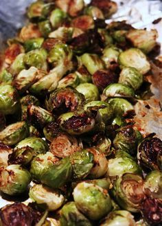Best Ever Balsamic Brussels Sprouts. I've pan roasted them with a similar recipe before, but this way is even better!