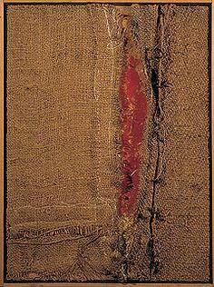 Burri, not a textile artist...