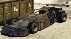 The BF Ramp Buggy is a custom built flip car featured in Grand Theft Auto Online as part of the Import/Export update. The vehicle takes the design of a custom car, fitted with a frontal defensive fascia, the angled design of this vehicle is intended to slip under cars, flipping them out of the way. Due to the custom design, the vehicle isn't based on any real-life vehicle, although it takes the resemblance and purpose of the Flip Car used in Fast and Furious 6.