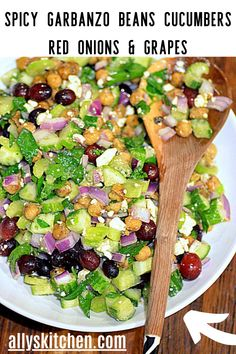I love a salad that's a meal, too. When you add beans, you've got some seriously wicked protein and more nutrition going on. #easybeanrecipe #beansaladrecipe Garbanzo Bean Recipes, Cooking Garbanzo Beans, Cooking Basmati Rice, Easy Bean Recipes, Bean Salad Recipes, Good Healthy Recipes, How To Cook Corn, How To Cook Pasta, Cooking Oatmeal