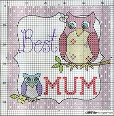 ru / Фото - From Magazines - Auroraten Cross Stitch Owl, Cross Stitch Cards, Cross Stitch Animals, Cross Stitch Kits, Cross Stitch Designs, Cross Stitching, Cross Stitch Embroidery, Cross Stitch Patterns, Christmas Embroidery Patterns