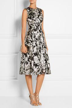Lela Rose|Metallic fil coupé dress|NET-A-PORTER.COM