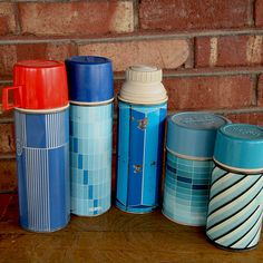 Vintage thermos collection