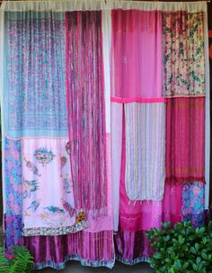 Shade Garden Flowers And Decor Ideas Rock The Casbah - Gypsy Curtains Handmade By Babylon Sisters Etsy. White Sheer Curtains, Drop Cloth Curtains, Diy Curtains, Curtains With Blinds, Shower Curtains, Scarf Curtains, Closet Curtains, Patterned Curtains, French Curtains