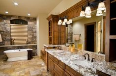 15 Stone And Bricks Wall Bathroom Ideas For Classy People - Top Inspirations