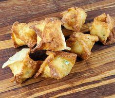 Recipe Monster, Crab Rangoon Recipe, Wonton Wrappers, Peanut Oil, Frying Oil, Chinese Restaurant, Copycat Recipes, 4 Ingredients, Recipe Using