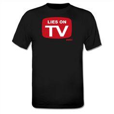 T-shirt Lies On Tv