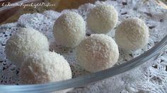 Fiocchi di neve al cocco super light – senza cottura (60 calorie l'uno) | Le Ricette Super Light Di Giovi