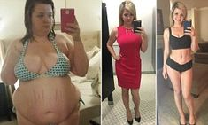 Christine Carter, 28, from Dallas, lost 150lbs (11st) in 16 months and gained the confidence to ditch her ex, who she claims encouraged her to put on weight so she wouldn't leave him.