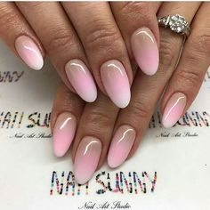 Super Ideas For Nails Ombre Almond French Manicures Diy Nail Designs, Acrylic Nail Designs, Acrylic Nails, How To Do Nails, Fun Nails, Gold Glitter Nails, Gradient Nails, Easter Nail Art, Nail Games