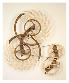 Kinetic Sculpture by David C. Roy - All Sculptures | Wood That Works | Kinetic Art - White Water