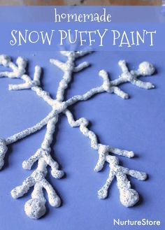 Use this easy snow puffy paint recipe to make snowflake paintings. Snow puffy paint This puffy paint lets you cre Creative Activities For Kids, Christmas Activities For Kids, Spring Crafts For Kids, Winter Activities, Baby Activities, Creative Play, Snowflakes Art, Snowflake Craft, Paper Plate Crafts