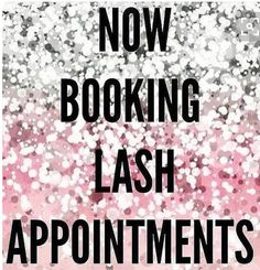 Hurry and book your Lash Appointment while you still can, only have a few openings left for the week of July 24th - 31st!! The first 3 people to book their appointment will recieve a 10% discount off service of their choice.