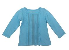 Sprockets Baby Girls School Girl Charm Long Sleeves Tee 12 Months Med Blue * Click on the image for additional details.