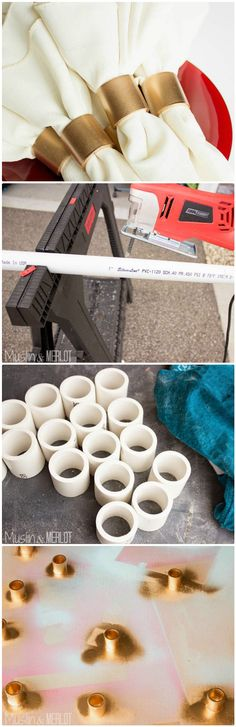 DIY PVC Pipe Napkin Rings - 48 DIY Projects out of PVC Pipe You Should Make