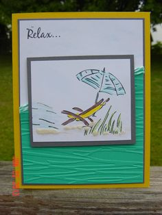 great color combination for beach card