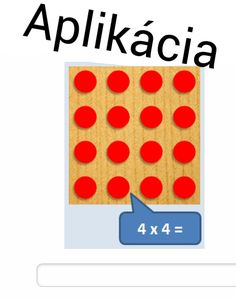Názorné násobenie cvičenie online http://learningapps.org/view47749