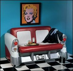 New vintage retro bedroom diner ideas