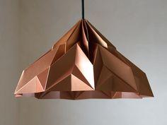 MAKE A WISH  Origami Lampenschirm satin Kupfer // origami lampshade in copper by werkdepot via dawanda.com
