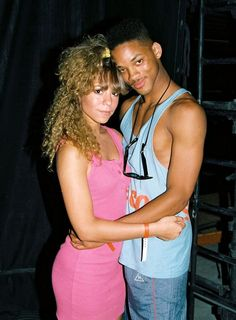 18 year old Mariah Carey and 19 year old Will Smith @ 98.7 Kiss FM (no longer in existence) Summer Jam