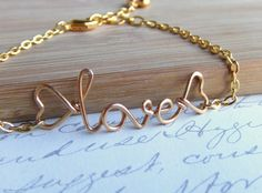 "Personalized Name Bracelet Gold Silver by deannewatsonjewelry, $15.95 ""clare"""