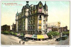 Buenos Aires - Avenida Callao y Corrientes - & tram