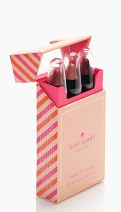 We'd like to formally add this Kate Spade lip trio to our Christmas list...