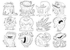 Morceaux de Microbes – I love these cute little monsters ♡  geraldraws.blogspot.com.es