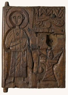 Panel with relief Inv. 8796 Wood H: 29 cm, W: cm Bawit, Monastery of St. Early Christian, Christian Art, Abstract Pictures, Orthodox Christianity, High Art, Romanesque, Sacred Art, Clay Projects, Byzantine