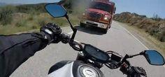 Motorcycle Hits Truck – GoPro Camera Captures Head-On Crash