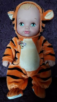 """1990 Lauer Water Babies with Winnie the Pooh """"Tigger"""" outfit"""