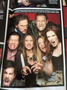 Grimm Cast LOL funny faces