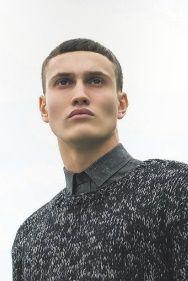 Grey melange crew neck sweater