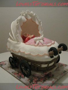 3D baby buggy cake tutorial