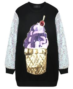 Ice Cream Split Joint Sequins Dress