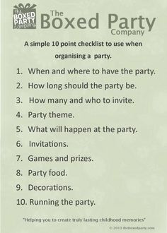 Some simple tips on running a successful party.  #partyadvice #kidsparties #kidspartyadvice