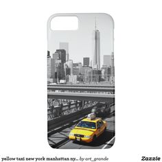 yellow taxi new york manhattan nyc usa iPhone 7 case - Found at: www.dream-phone-cases.com