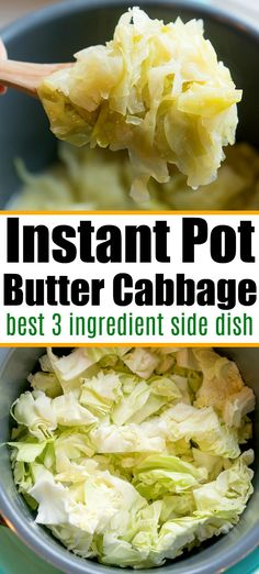 Pressure cooker recipes 282882420332737967 - Buttered Instant Pot cabbage is the bomb! Easy pressure cooker side dish with 3 ingredients that's vegetarian and so flavorful. Source by thetypicalmom Instant Pot Cabbage Recipe, Instant Pot Dinner Recipes, Side Dish Recipes, Side Dishes, Vegetarian Recipes Instant Pot, Pressure Cooker Cabbage, Instant Pot Pressure Cooker, Pressure Cooker Recipes, Pressure Cooking