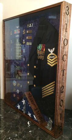 US NAVY shadow box Questions on design or price contact Lunawood1775@gmail.com