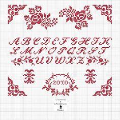 Här  hittar du många bra vackra mönster som kan inspirera dej att korsstygnsbrodera.