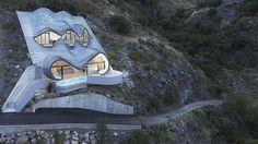 La asombrosa Casa del Acantilado hecha en una ladera con 42º de inclinación