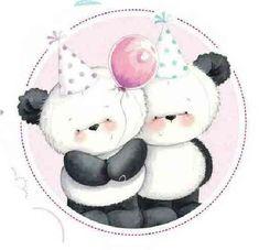 Fizzy Moon, Cute Christmas Cards, Big Teddy, Teddy Bear Pictures, Panda Wallpapers, Doodle Doo, Happy Birthday Images, Cute Panda, Cute Bears