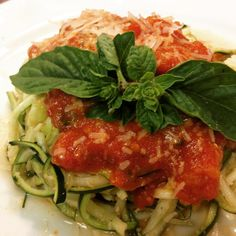 Today's dinner zucchini (from the garden) pasta.