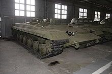 Object 287 was an antitank vehicle prototype, built on a T-64 chassis, armed with 9M15 Taifun (Typhoon) missile. The missile performed poorly in trials in 1964, and it and Objekt 287 were cancelled.