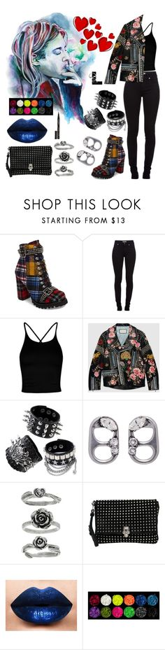 """Bad reputation"" by wedontneednoeducation ❤ liked on Polyvore featuring Jeffrey Campbell, Burberry, Boohoo, Gucci, Marc Jacobs, Alexander McQueen, LASplash and Smith & Cult"