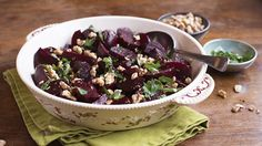 Beets with Balsamic, Honey and Walnuts