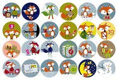 Handmade Christmas Gifts, Christmas Gift Tags, Christmas Art, Winter Christmas, Halloween Decorations, Christmas Decorations, Christmas Calendar, Advent Calenders, Countdown Calendar