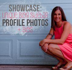 Blog sidebar author bios and profile photos - a showcase of pretty ones on DesignYourOwnBlog.com Best Profile, Profile Photo, Blog Planner, Yoga, Blog Design, Blog Tips, Photography Tips, Wordpress, Author