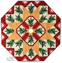 This timeless tree skirt from Pam Bono Designs makes a perfect gift or holiday decoration.