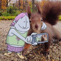 Illustrator Adds Funny Cartoons To Strangers' Instagram Photos